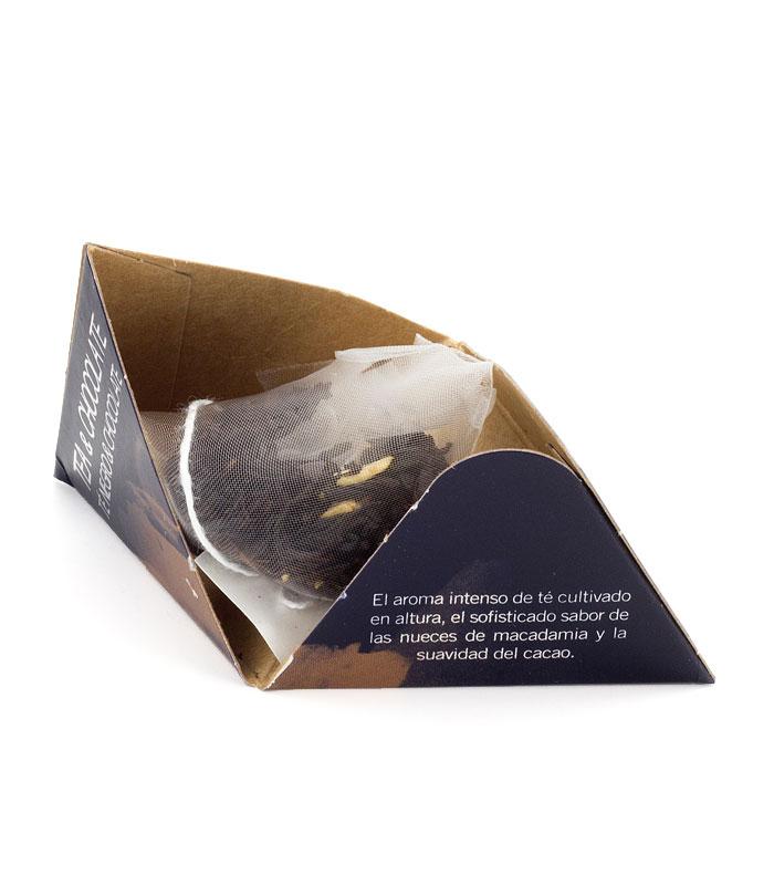 Té Chocolate pirámide interior