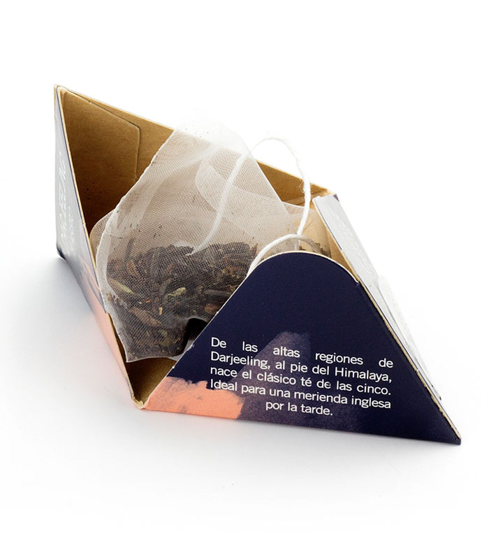 Té Negro Darjeeling pirámide interior